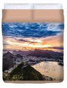 Rio De Janeiro Sunset Duvet Cover