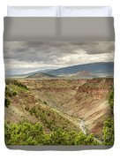Rio Grande Gorge At Wild Rivers Recreation Area Duvet Cover