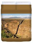 Rio Grande Gorge Bridge Taos New Mexico Duvet Cover