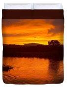 Rio Grande Sunset Duvet Cover
