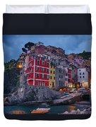 Riomaggiore In Cinque Terre Italy Duvet Cover