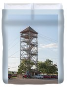 Rip Line Tower At Coba Village Duvet Cover