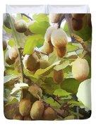 Ripe Kiwi Fruit On The Branch Duvet Cover