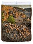 Ripple Boulders At Sunset In Bentonite Quarry Duvet Cover