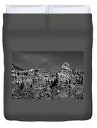 Rippled Walls B-w Duvet Cover