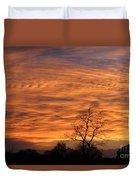 Ripples Of Orange Duvet Cover