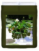 Ripples On The Lotus Pond Duvet Cover