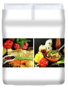 Rise And Pilaf - Collage Duvet Cover