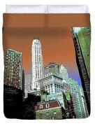 Rising High - New York Wall Street Skyline Duvet Cover