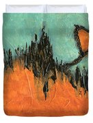Rising Hope Abstract Art Duvet Cover