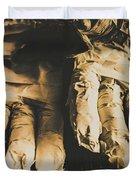 Rising Mummy Hands In Bandage Duvet Cover