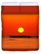 Rising Sun In Nabq Bay Duvet Cover