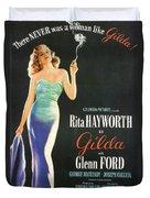 Rita Hayworth As Gilda Duvet Cover