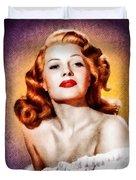 Rita Hayworth, Vintage Actress Duvet Cover