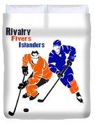 Rivalry Flyers Islanders Shirt Duvet Cover