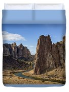 River And Rock Duvet Cover