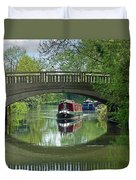 River At Harlow Mill Duvet Cover