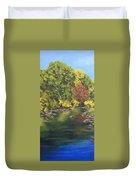 River At Hidden Acres 1. Duvet Cover