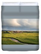 River Below The Clouds Duvet Cover