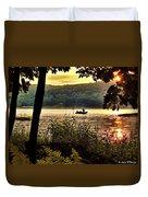 River Fishing  Duvet Cover