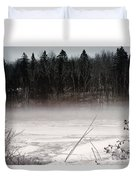 River Ice And Steam Duvet Cover