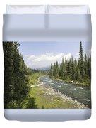 River In Denali National Park Duvet Cover