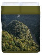 River In Forest Mountains Duvet Cover