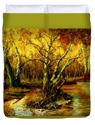 River In The Forest Duvet Cover