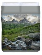 River In The French Alps Duvet Cover