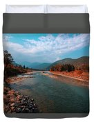River In The Kingdom Of Happiness Duvet Cover