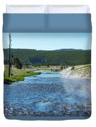 River In Yellowstone Duvet Cover