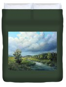 River Landscape Spring After The Rain Duvet Cover by Katalin Luczay