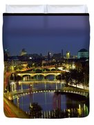 River Liffey Bridges, Dublin, Ireland Duvet Cover