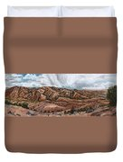 River Mural Autumn Panorama Duvet Cover