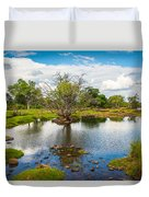 River Oasis Duvet Cover