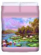 The Wonder Of Water Lilies Duvet Cover