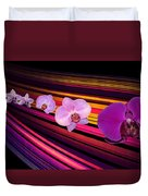 River Of Orchids Duvet Cover
