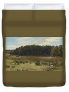 River On The Edge Of A Wood Duvet Cover