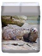 River Otters Duvet Cover