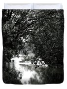 River Passage In Black And White Duvet Cover