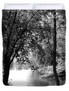 River Passage Through Trees Duvet Cover