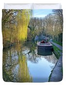 River Reflections  Duvet Cover by Gill Billington