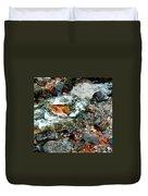 River Rock Leaves Duvet Cover
