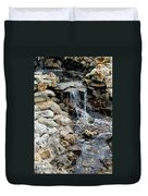 River Rock Of The Unknown Duvet Cover