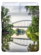 River Saale Bridge Near Dehlitz Duvet Cover