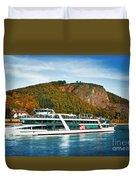 River Ship Duvet Cover