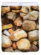 River Stones Duvet Cover