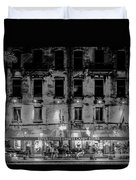 River Street Sweets Candy Store Black White  Duvet Cover