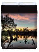 River Sunrise Duvet Cover