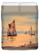 River Thames At Greenwich London Duvet Cover